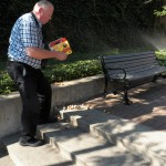 Dan tries to save the donut holes! 7/21/12