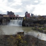 View of High Falls from the Pedestrian Bridge