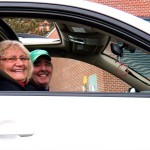 Joyce & Steve Stop by for a quick falcon fix on way home - 12/25/12