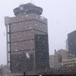 Snowy Downtown Rochester from the ASB 2/24/13