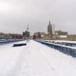 Snow Covered Pedestrian Bridge 2/9/13
