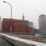 Snow View from the Broad St Bridge 2/22/13