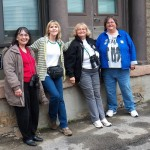 l-r Jeanne, Barb, Joyce & MAK 5/24/13