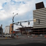 MIdtown Plaza Viewed From SW Corner of Broad St & S Clinton 7-31-13