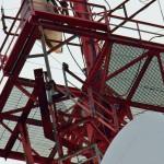 Beauty on Frontier Communication Tower Below Platform SE Side 8-21-13