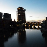 Nighttime on the Genesee River Looking North 9-18-13