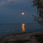 Full Moon Over Lake Ontario 10-18-13