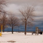 Storm Clouds Over Lake Ontario More Snow 11-27-13