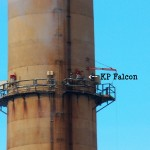 KP Falcon on East Stack Catwalk 1-23-14
