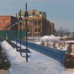 Snowy High Falls Pedestrian Bridge 1-4-14