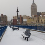 Snowy Pedestrian Bridge 1-26-14