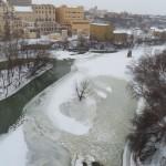 Frozen Genesee River 1-26-14