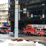 Fire Trucks at the Cross Rds Bldg 3-30-14