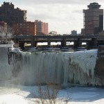 High Falls Area from Pedestrian Bridge 1-31-15