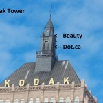 Beauty and Dot.ca on the Kodak Tower 2-22-15