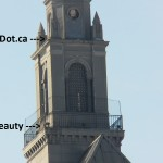 Beauty and Dot.ca on the Kodak Tower from the Pedestrian Bridge 2-22-15