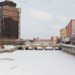 Frozen Genesee River Looking North 2-22-15