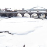Frozen Genesee River Looking South 2-22-15