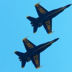 Blue Angels from Broad St Bridge 5-23-15
