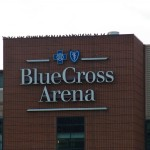 Pigeons Lined up on Blue Cross Arena -2-1-16