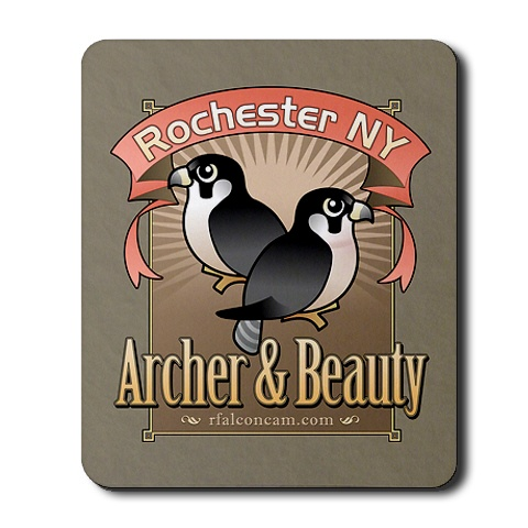 Archer & Beauty Mouse Pad by Birdorable